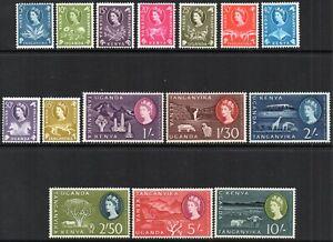 1960/62 KUT Sg 183/197 Short Set of 15 Values Lightly Mounted Mint