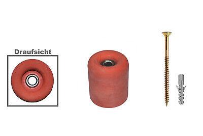 Oder Bodenmontage Ø 30 X 34mm Türstopper Gummi-terracotta Wand 30-34t Belebende Durchblutung Und Schmerzen Stoppen 1 Stk