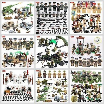 Zweiter Weltkrieg Militär Soldaten Waffen Mini Armee Figuren Lego kompatibel