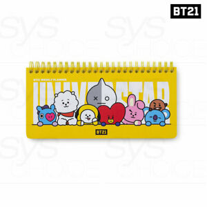 BTS BT21 OfficiaI Authentic Goods Weekly Planner 60p HEART Ver + Tracking Number
