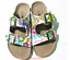 HOT-Women-039-s-Slide-Buckle-T-Strap-Cork-Footbed-Platform-Flip-Flop-Shoes-Sandals miniatura 14