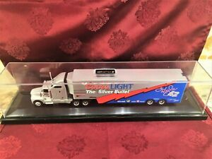 KYLE PETTY 1995 #42 Coors Light Racing 1/64 RCCA Transporter & HO Car w Case SET