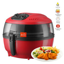 7l Electric Air Fryer Digital Touch Screen Temperature Timer Control Red