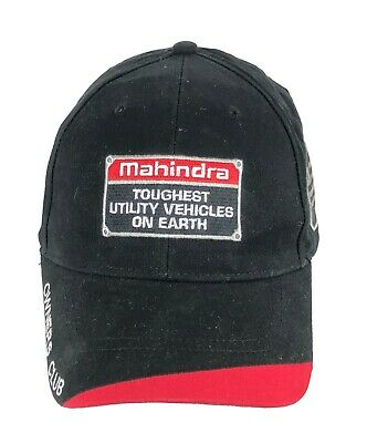 tractor farm yard Mahindra New OEM ball cap hat black white stitched