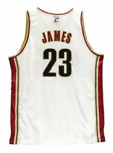 buy popular 0777f 21a1d Details about LeBRON JAMES Cleveland Cavaliers 2003 Home Reebok Authentic  Throwback NBA Jersey