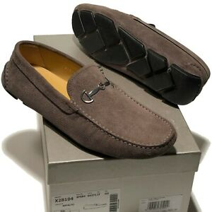 Armani Suede Leather Bit Loafers Driver