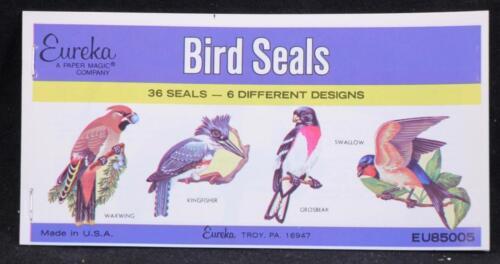36 Seals in Each Made in U.S.A. Twelve 12 Eureka Bird Seal Booklets