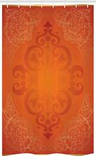 Orange Schmaler Duschvorhang Antike Blumenverzierung
