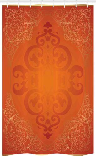 Königliche Antike Motive Orange Schmaler Duschvorhang