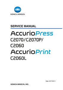 Details about Service & Parts Manual Konica Minolta Accurio press C2070  C2070P C2060 C2060L