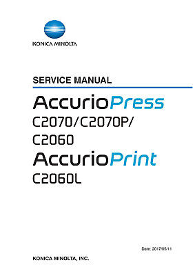 Service & Parts Manual Konica Minolta Accurio press C2070 C2070P C2060  C2060L | eBay
