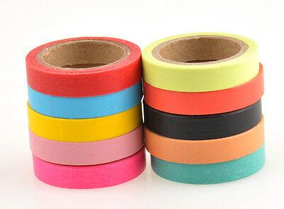 uu DIY Decorative Washi Rainbow Sticky Paper Masking Adhesive Tape Scrapbooking