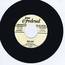 JACKIE BRENSTON - MUCH LATER / THE MISTREATER - HOT BLUES BOPPERS - REPRO