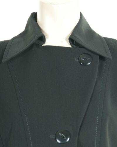 Busy Ladies Black Long Trench Coat Mac