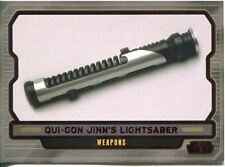 Star Wars Galactic Files 2 Red Parallel Base Card #590 Qui-Gon Jinn's Lightsaber