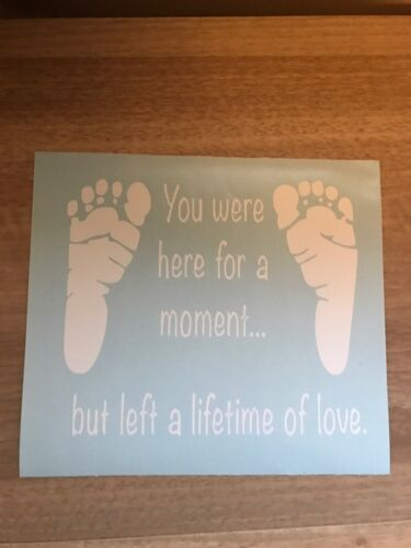 You Were Here For A Moment But Left A Lifetime Of Love Vinyl Box Frame Decal