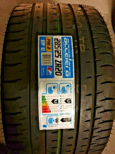 New ACCELERA SPORT PHI-2 285//25 ZR20 XL 93Y SUV 4X4 A//S Car Tyres 285 25 20 C+C