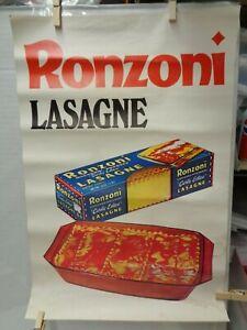 vintage advertising poster RONZONI pasta 1967 1968 ...