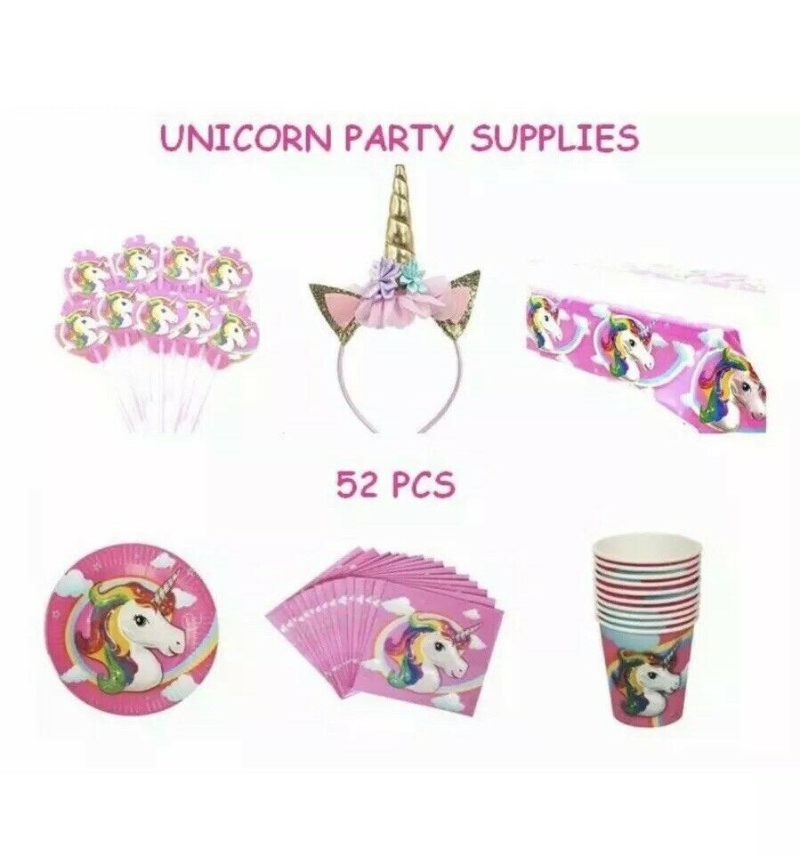 Zdada Unicorn Party Decorations Supplies Pink Unicorn Party Supplies Birthday