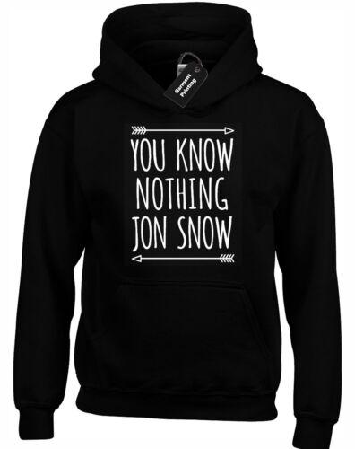 YOU KNOW NOTHING JON SNOW HOODY HOODIE GAME OF DAENERYS TYRION THRONES TARGARYEN