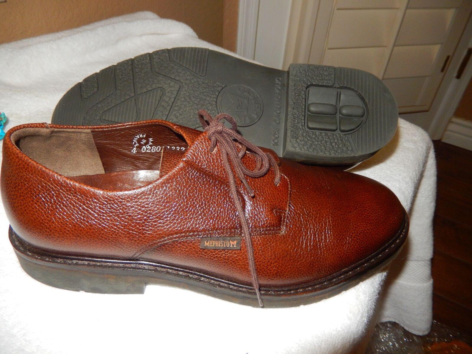 Men's Mephisto MARLON - Dk brown Pebble Grain Lace Up Shoe Oxford 9178N 8 D 395