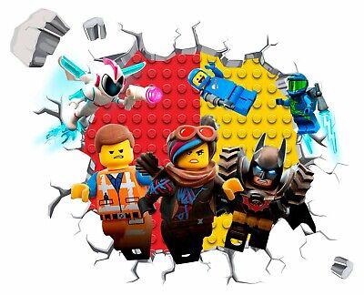 Lego Movie Batman Cartoon Light Switch Vinyl Sticker Decal for Kids Bedroom #332