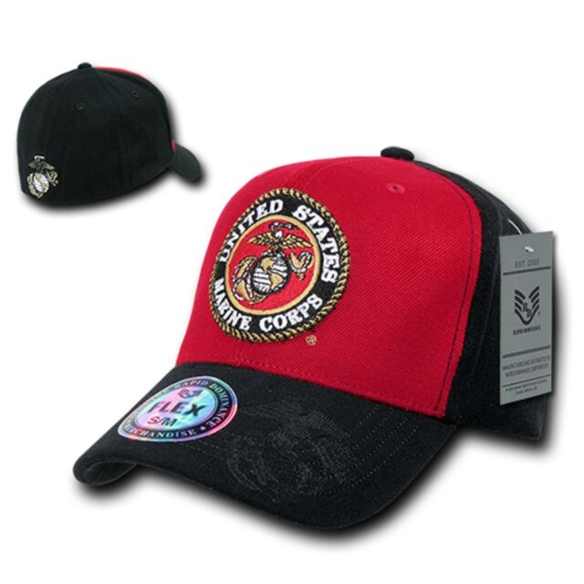 Usmc Baseball Hat Cobra Cap Us Marine Corps Black