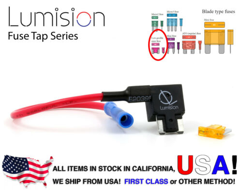 5AMP FUSE ADD-A-CIRCUIT BLADE STYLE ATM LOW PROFILE MINI FUSE HOLDER FUSE TAP