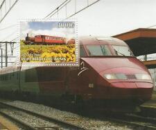 "TRAINS RAILWAY TRANSPORT 3.5"" x 4"" REPUBLIQUE DU BENIN 2006 MNH STAMP SHEETLET"