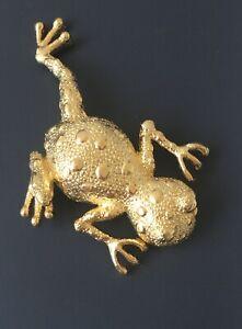 Vintage-Large-Frog-Brooch-gold-tone-metal