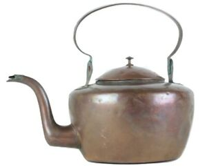 Details about Antique JOHN KIDD Early American 1790s Dovetailed Copper Tea Kettle Pennsylvania