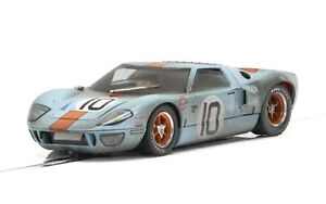 Scalextric C4105 Ford Gt40 Le Mans 24h 1968 No.10 Weathered Tout neuf