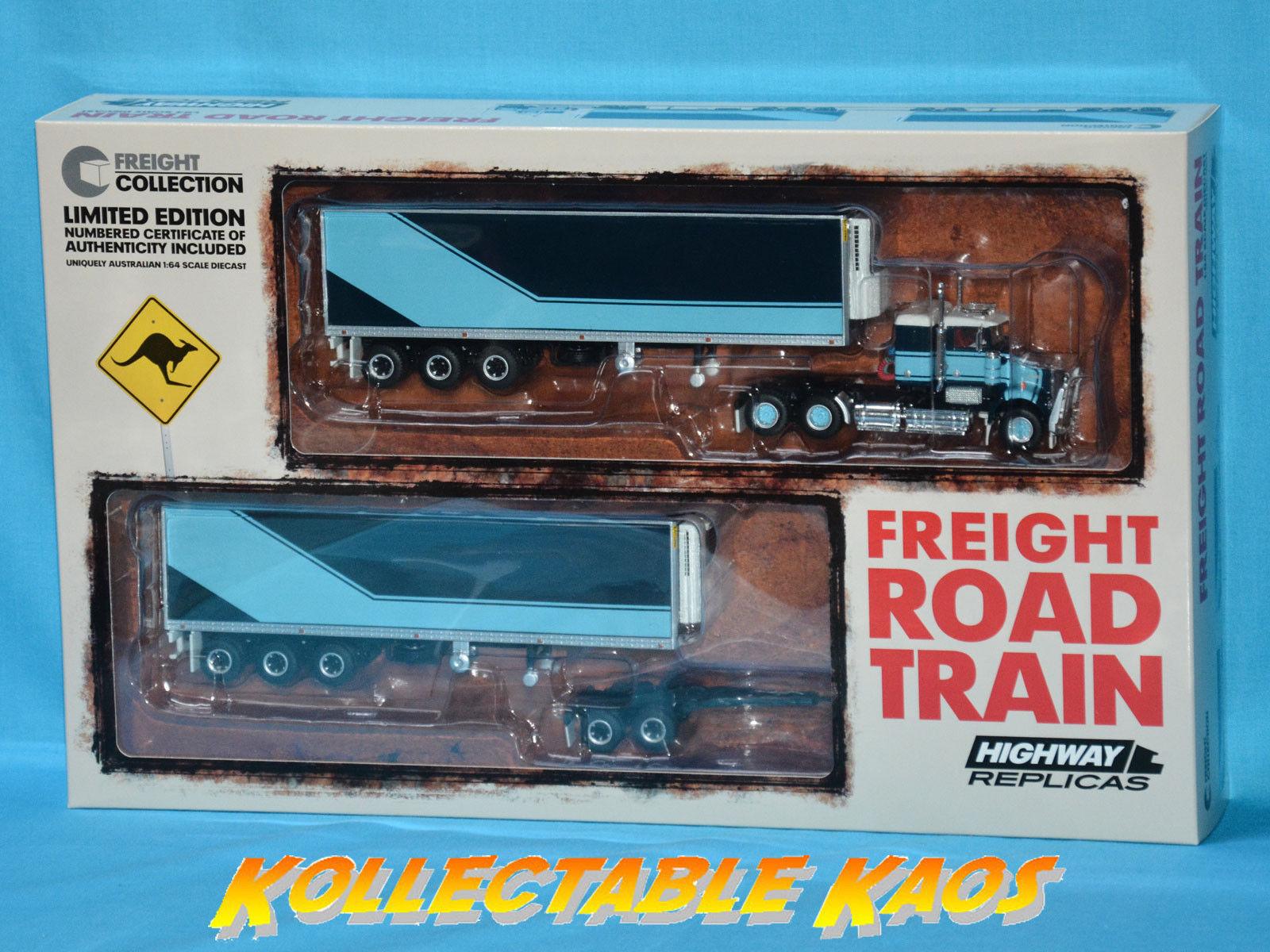 1 64 Highway Replicas - Freight Road Train - Two Tone blu