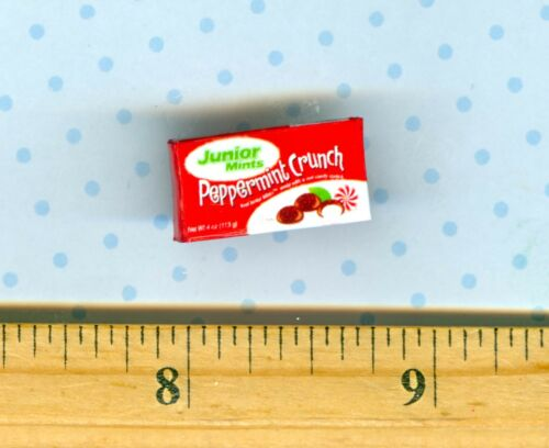 DOLLHOUSE MINIATURE  Size Peppermint Candy Box