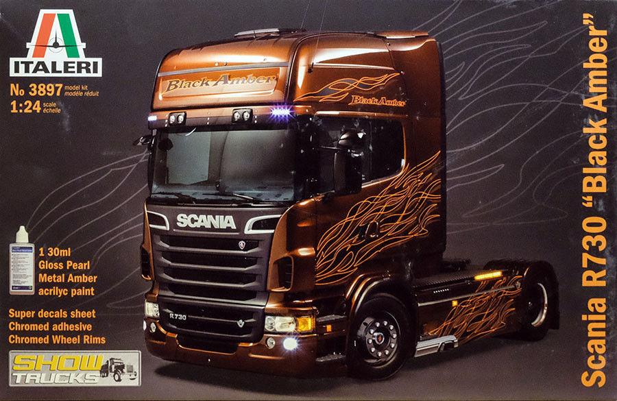 Italeri Scania R730   R 730 Nero Ambra Autocarro Camion 1 24 Kit di Costruzione