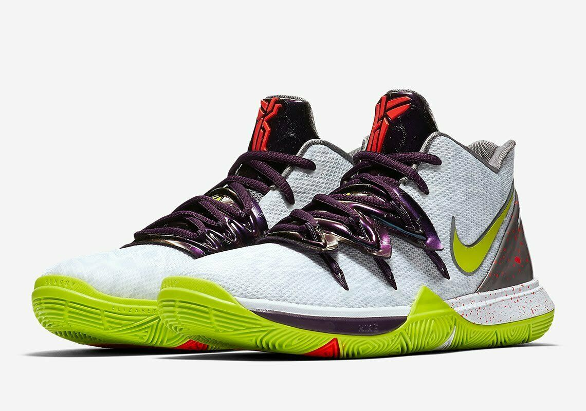 Nike Kyrie 5 'Mamba Mentality  Chaos PRE-ORDER 8-14 White Cyber 100% Authentic