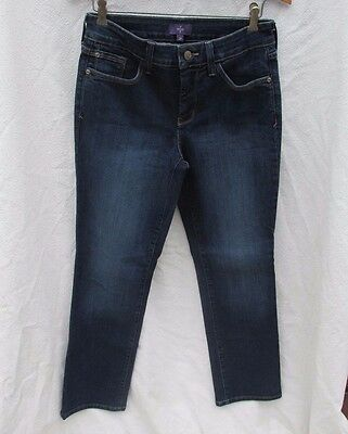 NYDJ Not Your Daughters Jeans Dark Blue Tummy Tuck Lift Stretch Women 2 P