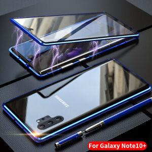 Para-Plus-Samsung-Galaxy-Note-10-Magnetico-Absorption-Parte-Delantera-Posterior-Funda-Cubierta-De