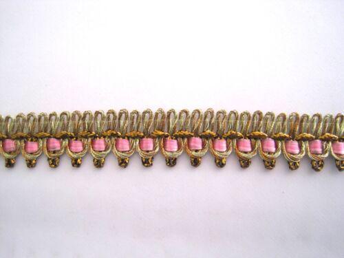 Zarte Gimpe Alt-Gold Rosa BO-GB-1279
