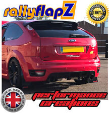 Rally Style Mudflaps for FORD FOCUS ST250 Pre /& Facelift Mud Flaps Red 4mm PVC