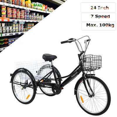 24 dreirad f r erwachsene dreirad lastenfahrrad seniorenrad shopping fahrrad ebay. Black Bedroom Furniture Sets. Home Design Ideas