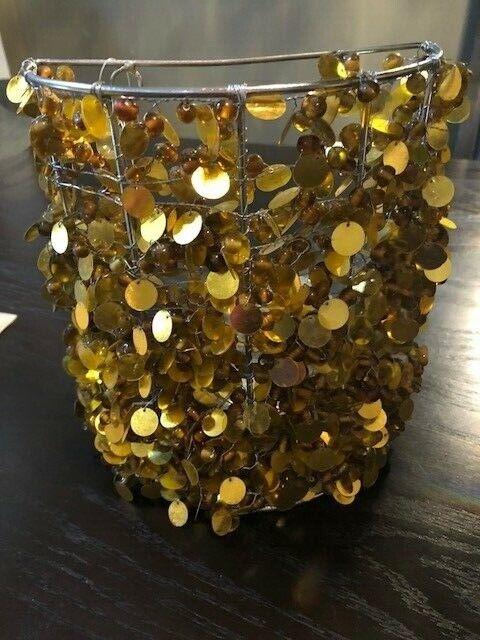 Nuevo con etiquetas Té Cande oro Lentejuelas titular por artesanos totalmente montado a mano India