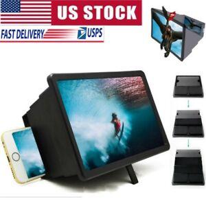 3D Folding Mobile Cell Phone Screen Magnifier HD Video Amplifier Stand Bracket