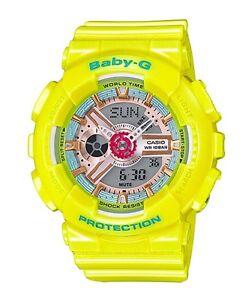 Casio-Baby-G-BA110CA-9A-Neo-Pastel-Yellow-Anadigi-COD-PayPal-Ivanandsophia
