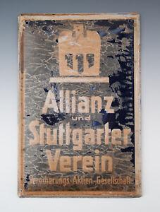Blechschild-Allianz-und-Stuttgarter-Verein-um-1930