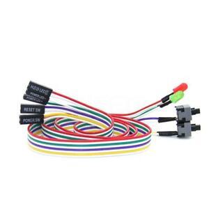 skto-PC-Comuter-gehaeuse-AT-Power-Reset-Schalter-Kabel-HDD-LED-lame-p