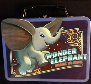 Detalles de Dumbo Grande Bolso De EstañoCaja De Almuerzo De Metal clásico de Walt Disney's volador de elefante ver título original