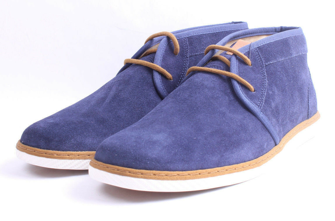 Fred Perry Claxton Mid Suede B4257 266 Navy Wallabees Style Men SZ 11 & 12