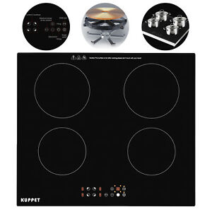 Kuppet 4 Burner Built In Induction Touch Panel Portable Cooktop