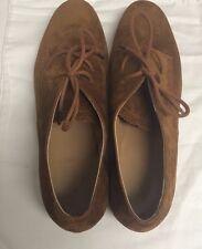 NIB Balenciaga Brown Suede Oxfords Lace-up Shoes Size 40.5 EU/9.5-10 US Italy